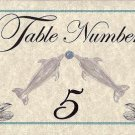 Dolphin Number Table Cards Wedding Party Favors