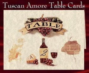 Table Cards Number Wedding Favors Tuscan Amore