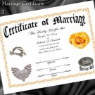 Wedding Favor Keepsake Certificate Biker Motorcycle B