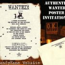 Wedding Invitations Scrolls Cowboy Texas Western