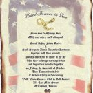 Wedding Scroll Invitations Patriotic Military Theme