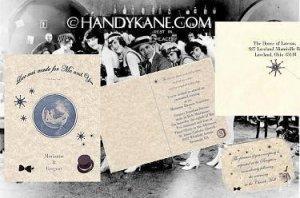 Wedding Invitations Timeless Roaring 20s Jazz Theme