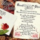 Wedding Scroll Invitations Whimsical Duchess Rose Fairy