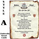 Castle Wedding Scroll Invitations Royal Scroll Style A