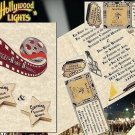 Hollywood Movie Wedding Invitations A & mini tickets