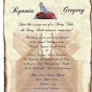 Glass Slipper Wedding Invitations Scroll B