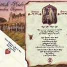 Scottish Wedding Invitations Scrolls Scotland Highland