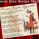 Hollywood Movie Wedding Favors Recipe Cards
