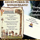 qty 100 original ALICE in WONDERLAND Wedding Sweet 16 Invitations