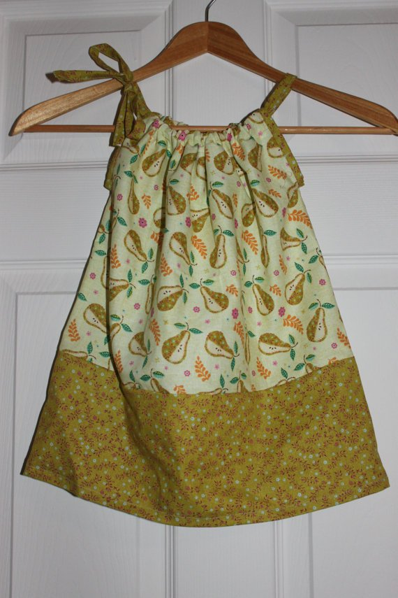 I Heart Pears! - Pillowcase Dress - Sizes 6 Months and 12 Months