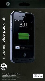 IPHONE 4 mophie charger defender case.with built in charger port