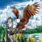 mink style queen size blanket, eagle on tree branch_Q933