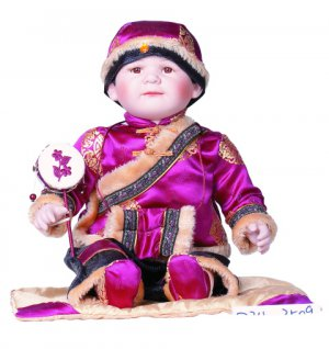 "24"" Collectible Porcelain Asian Baby Boy Doll_Wei_D24-3509"