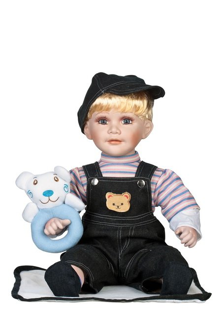 """24"""" Collectible Porcelain Baby Boy Doll_Ray_D24-1069"""