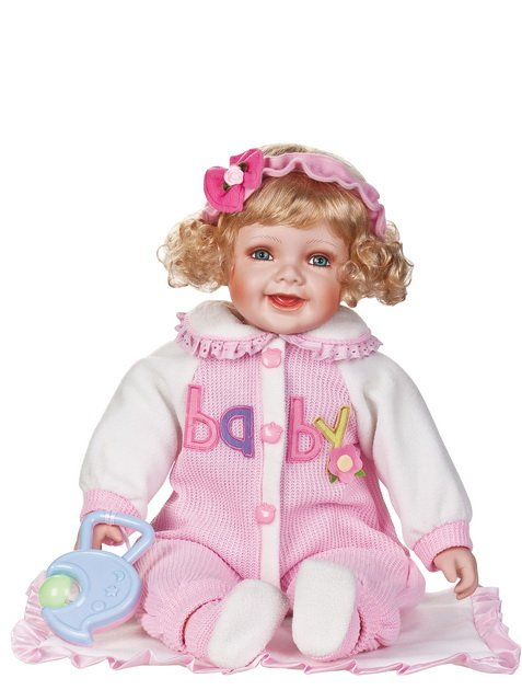 "24"" Collectible Porcelain Baby Girl Doll_Adaline_D24-1062"