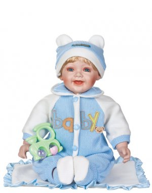 "24"" Collectible Porcelain Baby Boy Doll_Aaron_D24-1061"