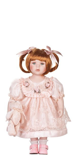 """12"""" Collectible Porcelain Baby Doll _ Samantha_D12-2049"""