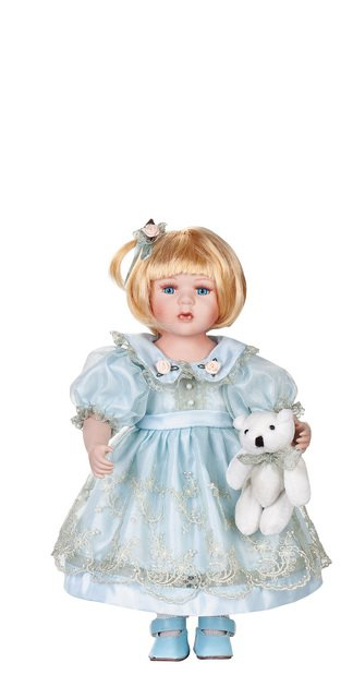 """12"""" Collectible Porcelain Baby Doll _ Isabella_D12-2048"""