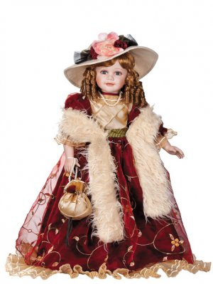 """28"""" Collectible Porcelain Lady & Victorian Doll > D28-4046"""