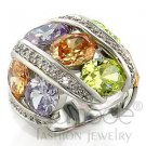 Fashion Jewelry Ladies Ring With Multiple AAA Grade CZ Stones