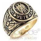 Fashion Jewelry Men's Ring Epoxy,Brass,Gold
