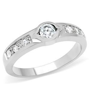 0.5 Ct Round CZ Stainless Steel Engagement, Wedding Band, Size 5,6,7,8,9
