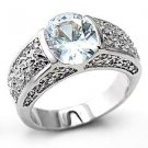 3 Carat Clear Oval Cut CZ  Engagement , Wedding Ring, Size  6 ,9