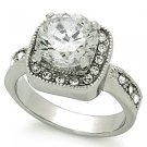 2.75 Carat Clear Round Cut CZ Wedding, Cocktail Ring, Size 5,6,7,8,9,10