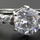 2.5 Ct Stainless Steel Clear Round CZ Engagement, Wedding Ring , Size 5,6,7,8