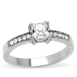 1.25 Carat Clear Princess Cut CZ Wedding, Bridal Ring, Size 5, 6,7,8,9,10