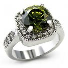 2.75 ct.  Wedding, Cocktail Ring  With Olivine Round Cut CZ, Size 5,6, 9 ,10