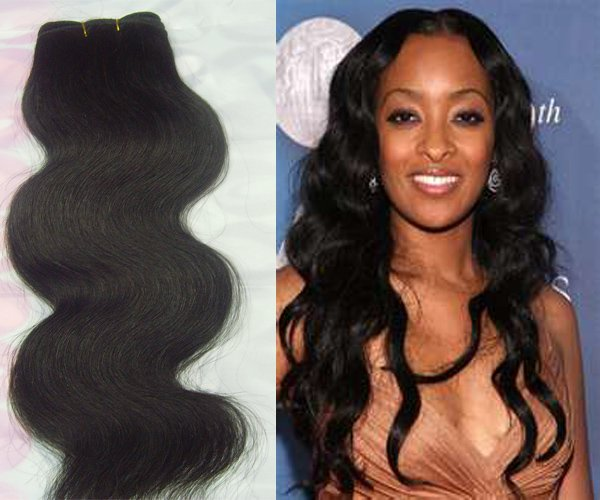 Virgin Brazilian Human Remy Hair Weaving body Wave 24Inch 8OZ 2pks dark Brown