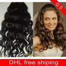 16 Virgin Brazilian Human Remy Hair Weave Curly 8oz 2pks dark Brown