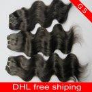 Virgin Brazilian Human Remy Hair Weave Body Wave 20Inch 8OZ 2pks off Black,