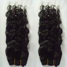 Virgin Brazilian Human Remy Hair Weave Curly 18Inch 8OZ 2pks off Black