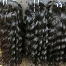 Virgin Brazilian Human Remy Hair Weft Curly 26Inch 12OZ 3pks off Black