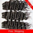 Virgin Brazilian Human Remy Hair Weave Curly 14Inch 8OZ 2pks off Black