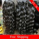 Virgin Brazilian Human Remy Hair Weave 12Inch 8OZ curly 2pks off Black