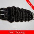 Virgin Brazilian Human Remy Hair Weave Curly 22Inch 8OZ 2pks off Black