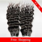 12oz Virgin Brazilian Human Remy Hair Weft Curly 16Inch 3pks off Black
