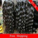 24 Virgin Brazilian Human Remy Hair Weaving Curly 8oz 2pks dark Brown