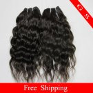 16 Virgin Brazilian Human Remy Hair Extensions Curly 12oz 3pks dark Brown