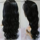 Indian Human Remy Hair Wigs Lace Front Wave 16Inch off Black Free shipping,