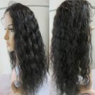 Indian Virgin Human Hair Wigs Lace Front 22Inch Curly off Black Retail and Wholesale Free shipping