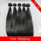 14 Virgin Brazilian Human Remy Hair Weave silk Straight 8oz 2pks off Black