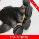 18 Virgin Brazilian Human Remy Hair Weave silk Straight 8oz 2pks off Black