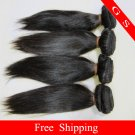 12 Virgin Brazilian Human Remy Hair Weft silk Straight 12oz 3pks off Black