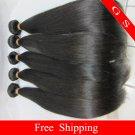 Virgin Brazilian Human Remy Hair Weft silk Straight 24Inch 12oz 3pks off Black