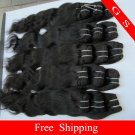 Indian Virgin Human hair Weft Remy Hair Body Wave 22inch 8oz 2pks off Black and dark Brown