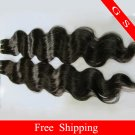 Virgin Indian Human hair Weft Remy hair Extensions body Wave 26Inch 2pks,Black and Brown